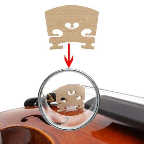 1 Set Violine Geige Kinnhalter Saitenhalter Brücke Kinnhalter für 4//4