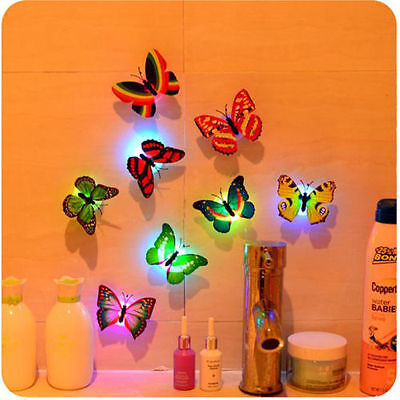 7 Color Changing 3D Butterfly LED Night Light Lamp Kid\'s Room Party Xmas Decor