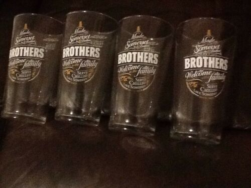 A SET OF 4 BROTHERS CIDER PINT GLASSES
