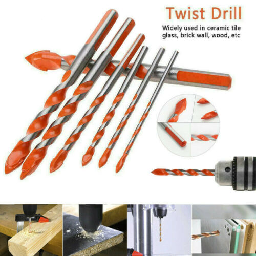 5//7pcs Multi-functional Alloy Twist Drill Bits Set for Tile Glass Ceramic Marble