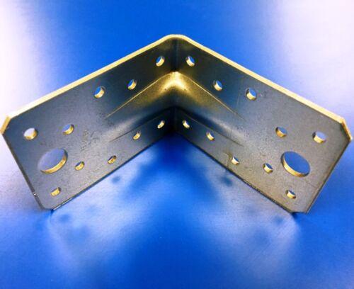 50x Stahlwinkel Winkelverbinder mit Sicke 90x90 Winkel Bauwinkel Balkenwinkel W9