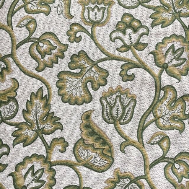 Zoffany Curtain / Upholstery Fabric DEERFIELD 3 15m Linden Jacobean Weave  315cm