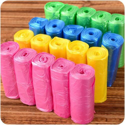 5 Roll Small Garbage Bag Trash Bags Durable Disposable Plastic Home Kitchen USA