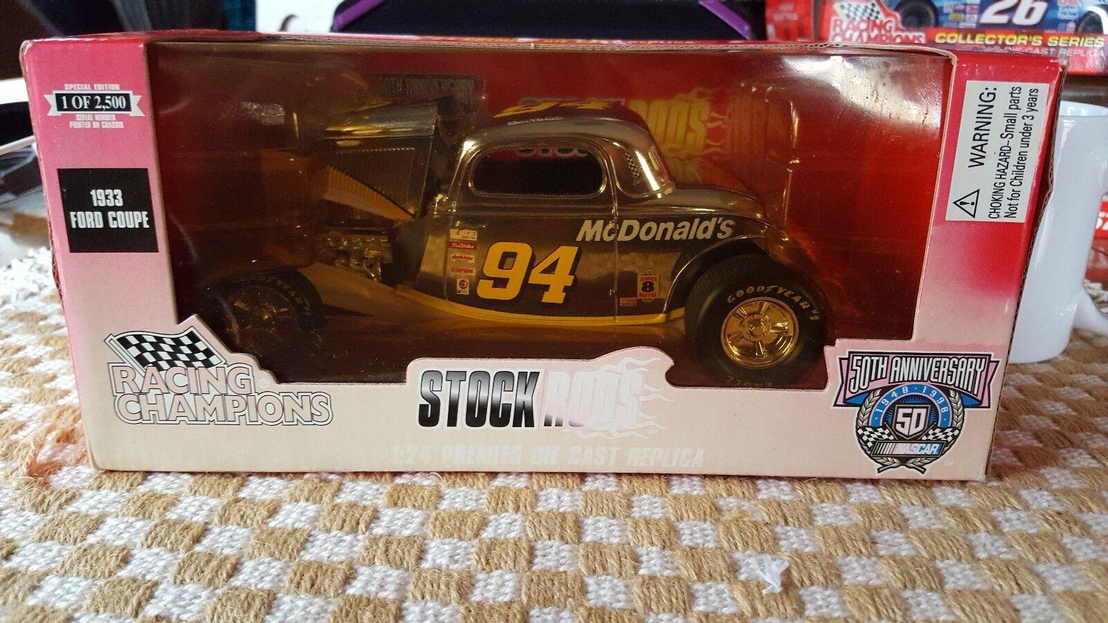 barato Racing Champions Bill Elliott escala  94 [1 24]'33 Ford Ford Ford Coupe McDonald's Promo  los clientes primero