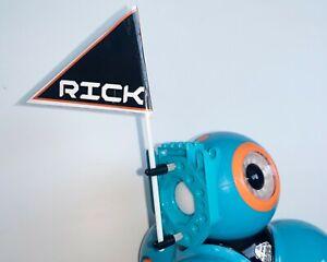 Wonder Workshop Dash Robot flag + attachments by Robot Man. Includes FLAGS