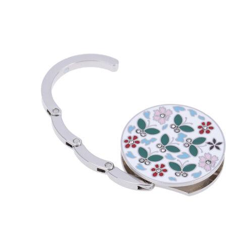 Folding bag handbag hook purse tote flower shape metal bag table hanger holderVQ