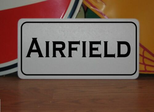 AIRFIELD Vintage Style Metal Sign for Airport Air Plane Pilot Hanger Field