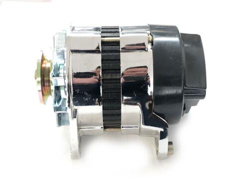 CHROME 18ACR Lucas Type High Output 65 Amp Alternator Pulley /& Fan CLASSIC MINI
