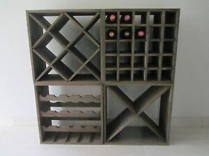 Portabottiglie vino scaffale porta bottiglie forma di x weinflaschen regalsystem ebay - Scaffale portabottiglie ...
