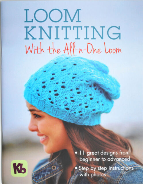 Kb Knitting Pattern Book for All in One Loom Hats Socks Shawls Accessories