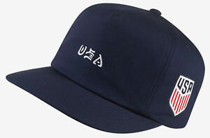 Hurley-Men-039-s-USA-National-Team-Snapback-Hat-Cap-Obsidian