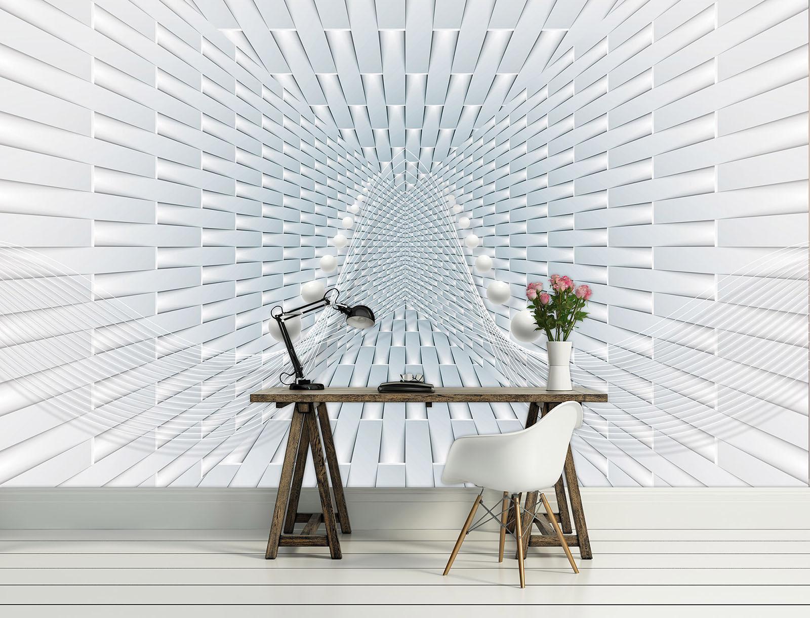 Vließ Fototapete Tapete Wandbild Korridor 3D 310063_VEMVT