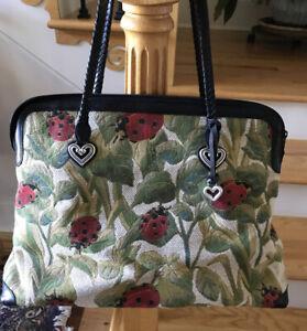 Brighton-Alyssa-Ladybug-Handbag-Tapestry-Weekender-Overnight-Large-Tote-Bag