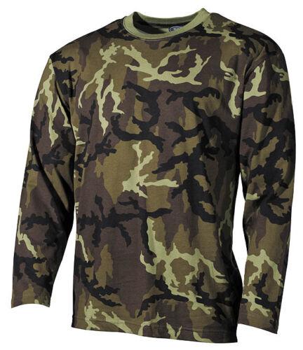 Czech Armée Homme Camo T-shirt à manches longues Vz.95 M95 Camouflage Pattern-CZ Camo