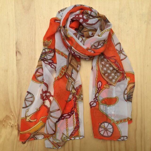 Women's Ladies Girls chiffon soft scarves Long Wraps Shawl Beach Silk Scarf  UK