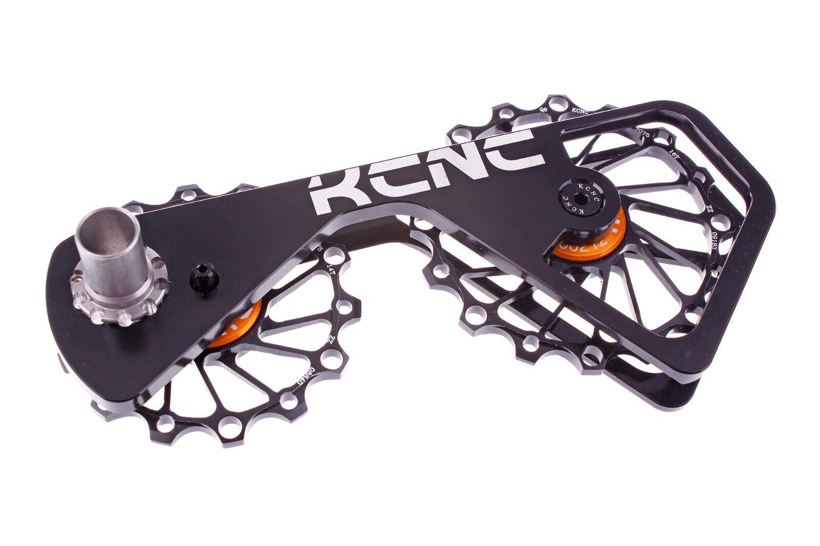 KCNC Chape Galets Oversize Vélo Route OPWS pour Shimano Dura Ace Ultegra black