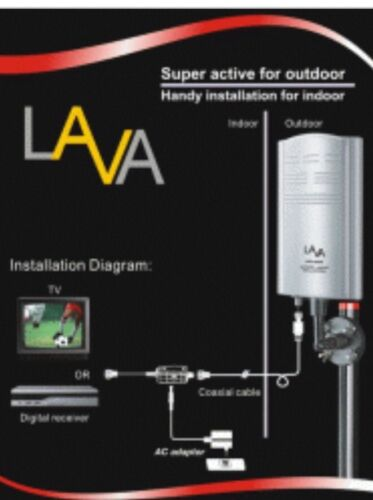 Lava Electronics Indoor//Outdoor HDTV Antenna HD-600 Antenna