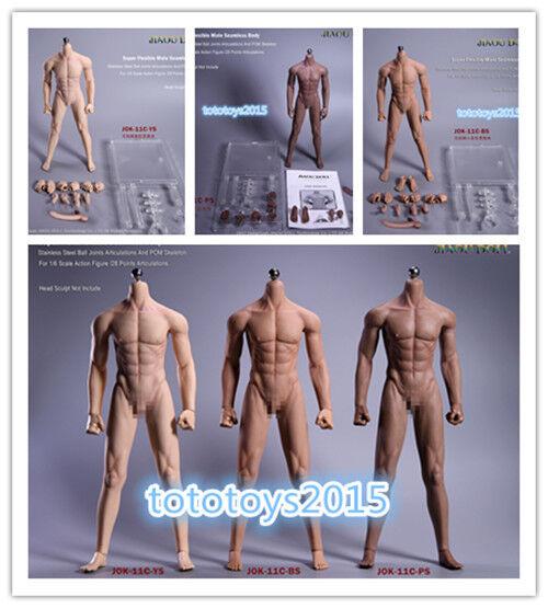 JIAOUDOLL 12'' Rubberized Male Body Detachable Foot Toys Figure JOK-11C-BS PS YS