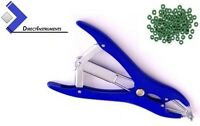 Elastrator Plastic Blue Castration Stretching Forceps + 100 Bands Veterinary