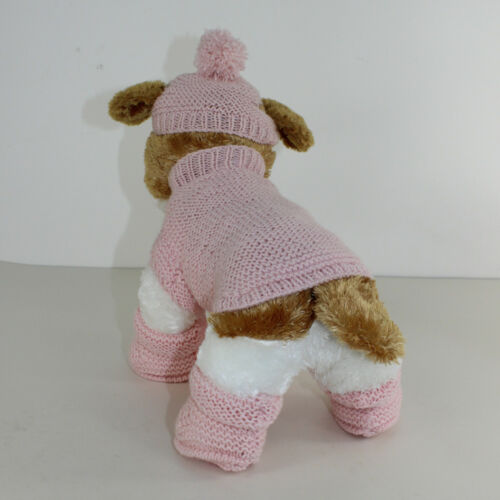 PUPPY//  KITTEN COAT BOBBLE HAT /& BOOTIES KNITTING PATTERN PRINTED INSTRUCTIONS