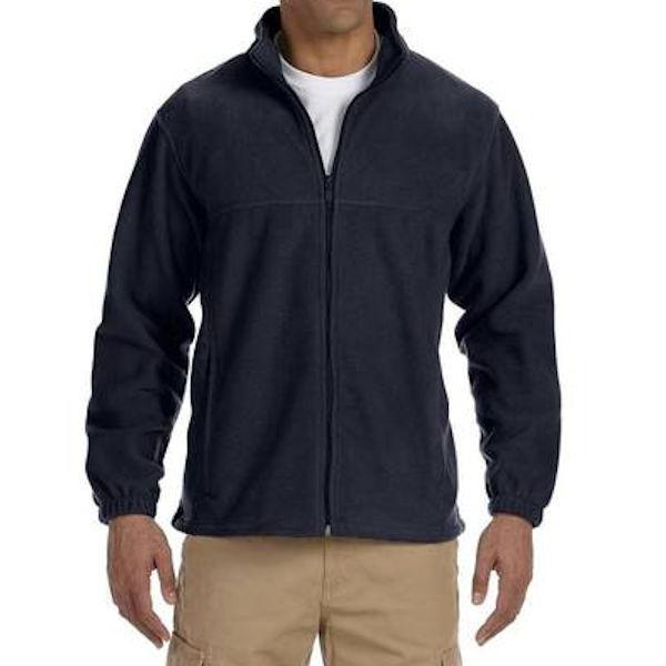 Men's Full Zip Fleece Jacket in Navy - 5XL