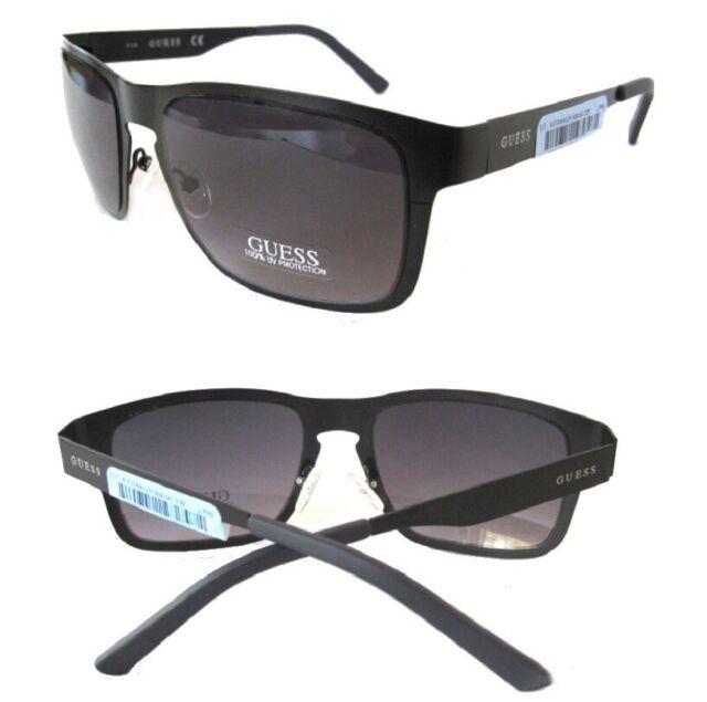 NWT GUESS Mens Sunglasses GF0176 Black matte//Purple $80