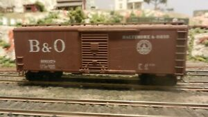 Athearn-HO-BB-40-039-Boxcar-B-amp-O-Upgraded-Exc