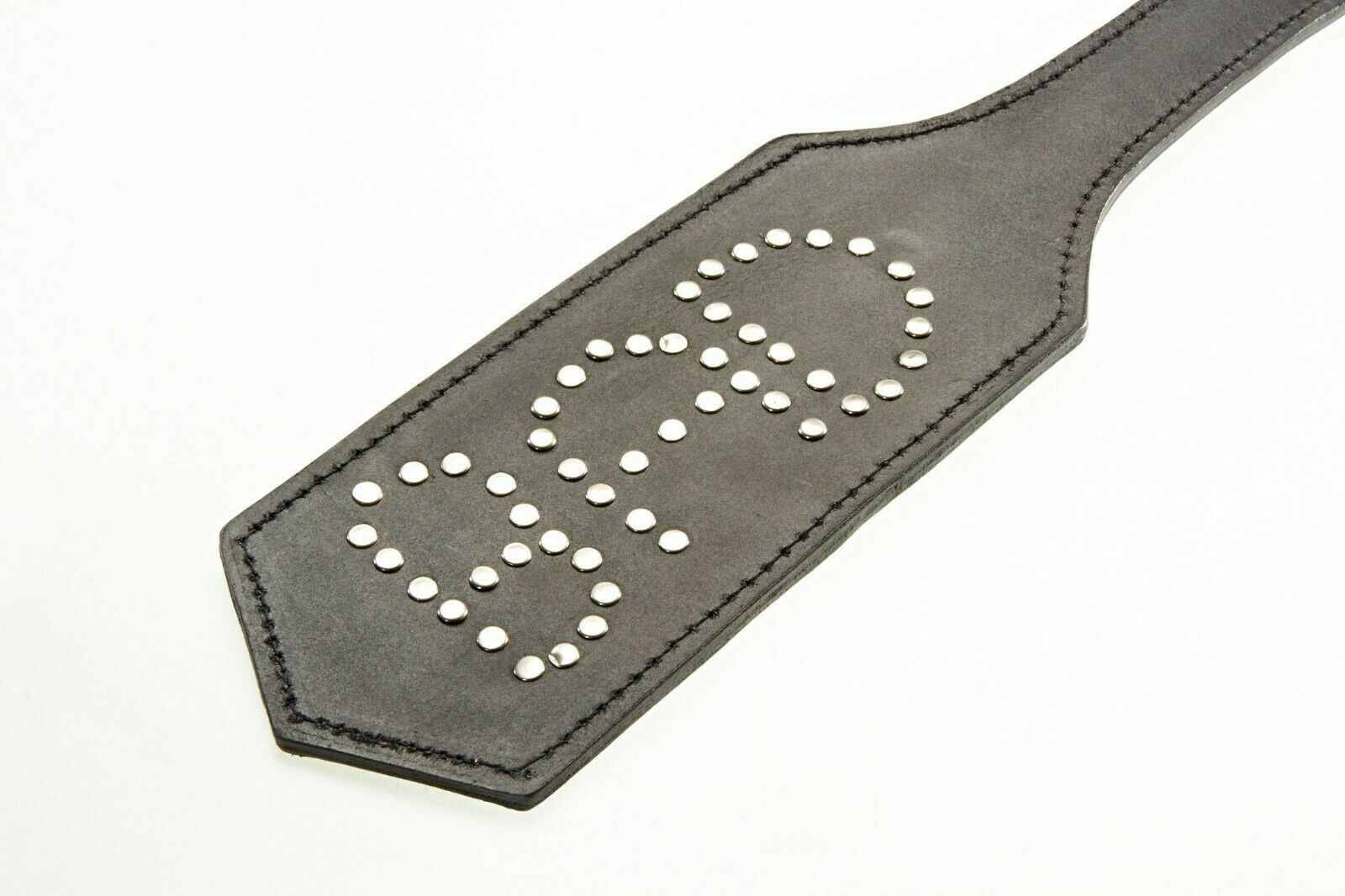 Quality Handmade Strict Leather Paddle Spanker With Metal Studs. Leather Paddle.