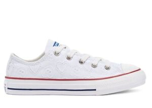 Scarpe da donna Converse all star 671098C sneakers basse bianche chuck taylor