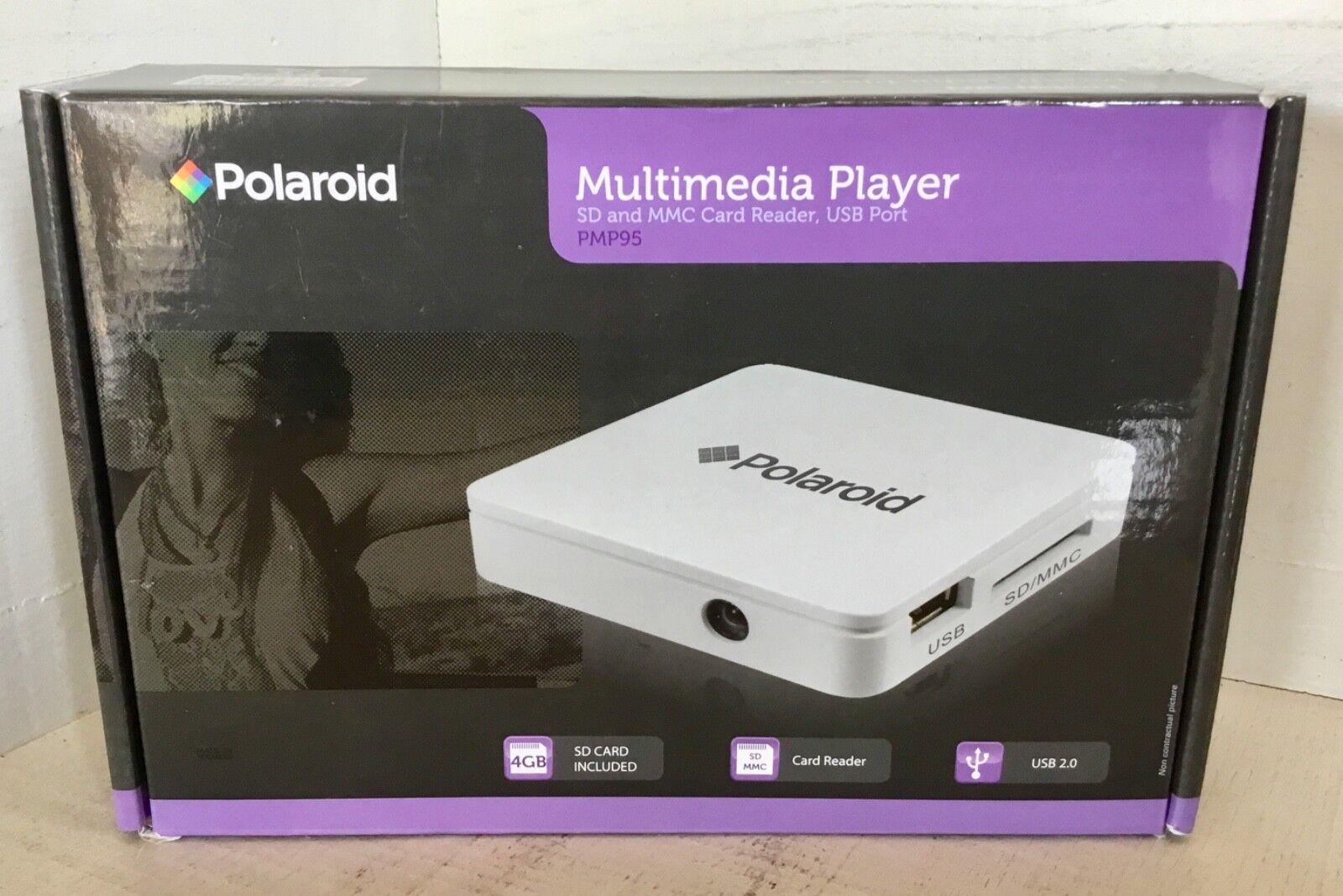 POLAROID PMP95 Multimedia player SD MMC card reader USB port NEW IN BOX