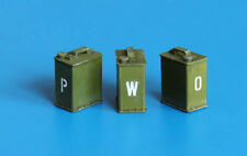 1:32/1:35 Scale 2 Gallon Petrol/Fuel Cans Unpainted Kit Wargaming WW2 PLMEL016
