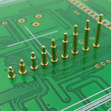Copper Gold Plating Plated Current Pogo Pin Probe Spring Loaded Smt Contacts T