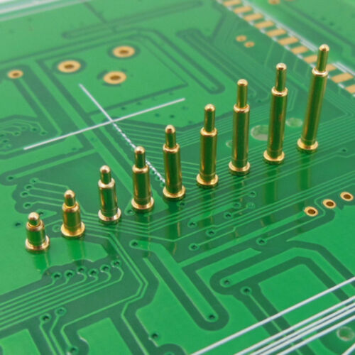 Gold Plating Plated Current Pogo Pin Probe Spring Loaded SMT Contacts T Copper