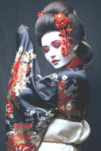 "JAPANESE geisha beautiful Canvas Picture Print 30/""x20/"""