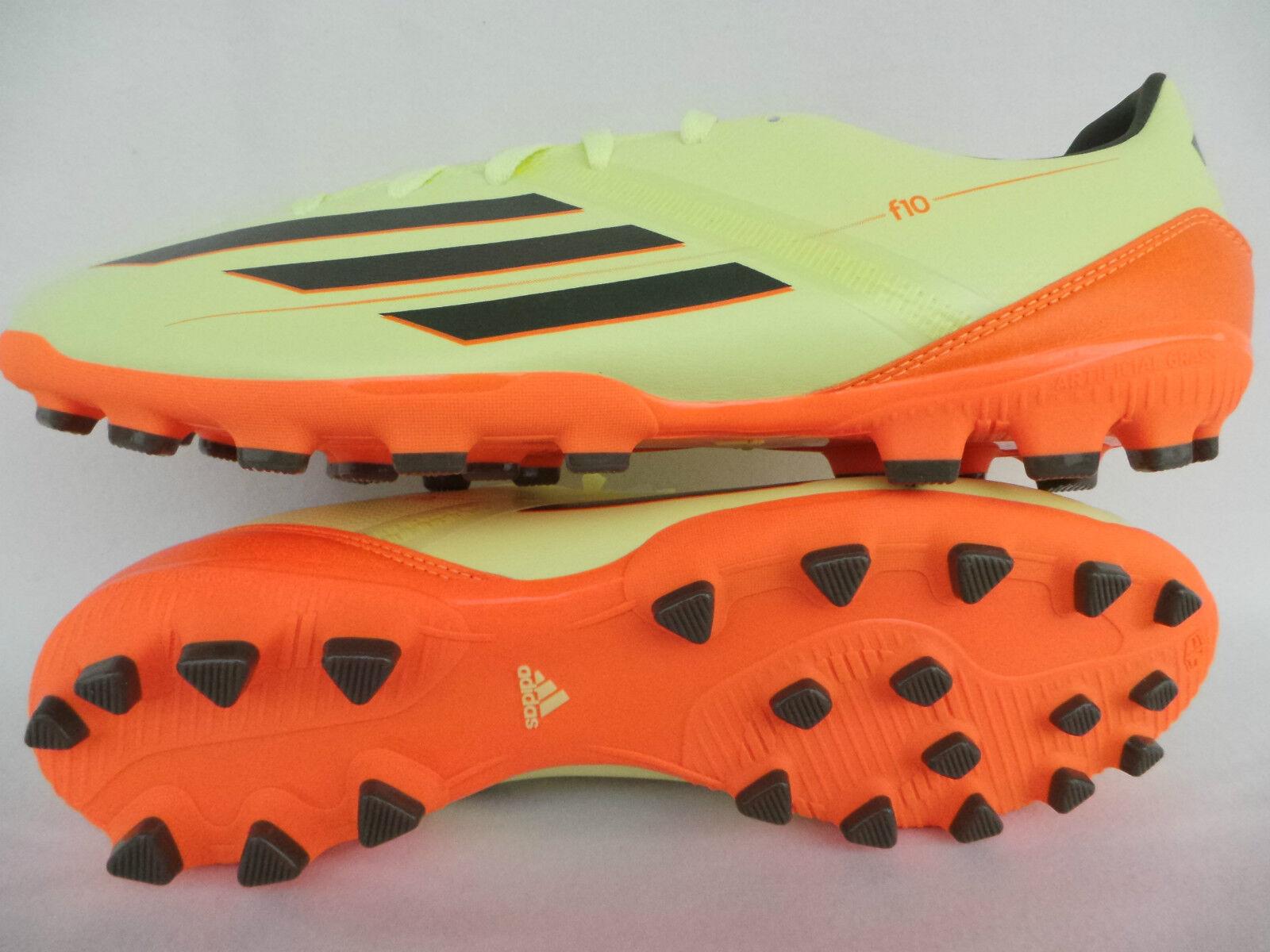 sale retailer f77e0 21277 ADIDAS REUSCH F10 F10 F10 TRX AG Calcio scarpe GIALLO NEON GR 39 40 41 42  43 44 45 46 34a8ba