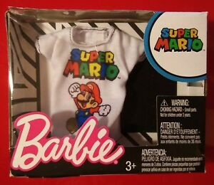 Super-Mario-Shirt-Nintendo-Shirt-T-Shirt-Mattel-Barbie-Doll