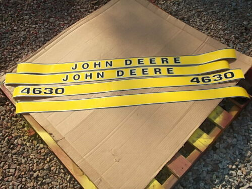 GREAT QUALITY SEE DETAILS HOOD ONLY JOHN DEERE 4630 DECALS