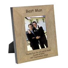 Personalizzata l'uomo migliore INCISI Oak Wood Veneer Foto Cornice 6x4 REGALO