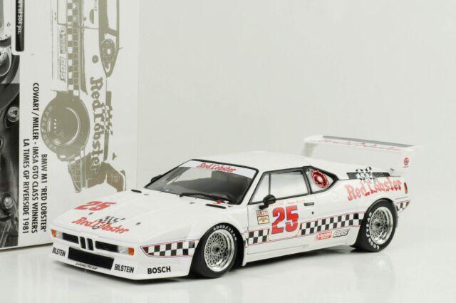 1981 BMW M1 #25 Rojo Langosta Imsa Gp Riverside Ganador 1:18 Minichamps 504 Pcs