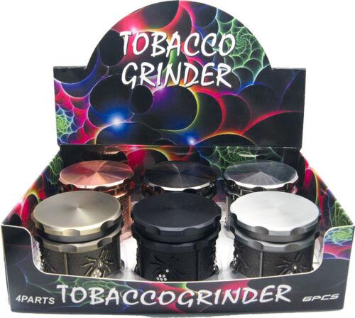 "2.4/"" 4 Piece Pretty Gothic Grinder Tobacco Herb Spice Crusher w// Skull Rose Gold"