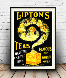 Liptons-teas-Vintage-poster-Reproduction-poster-Wall-art