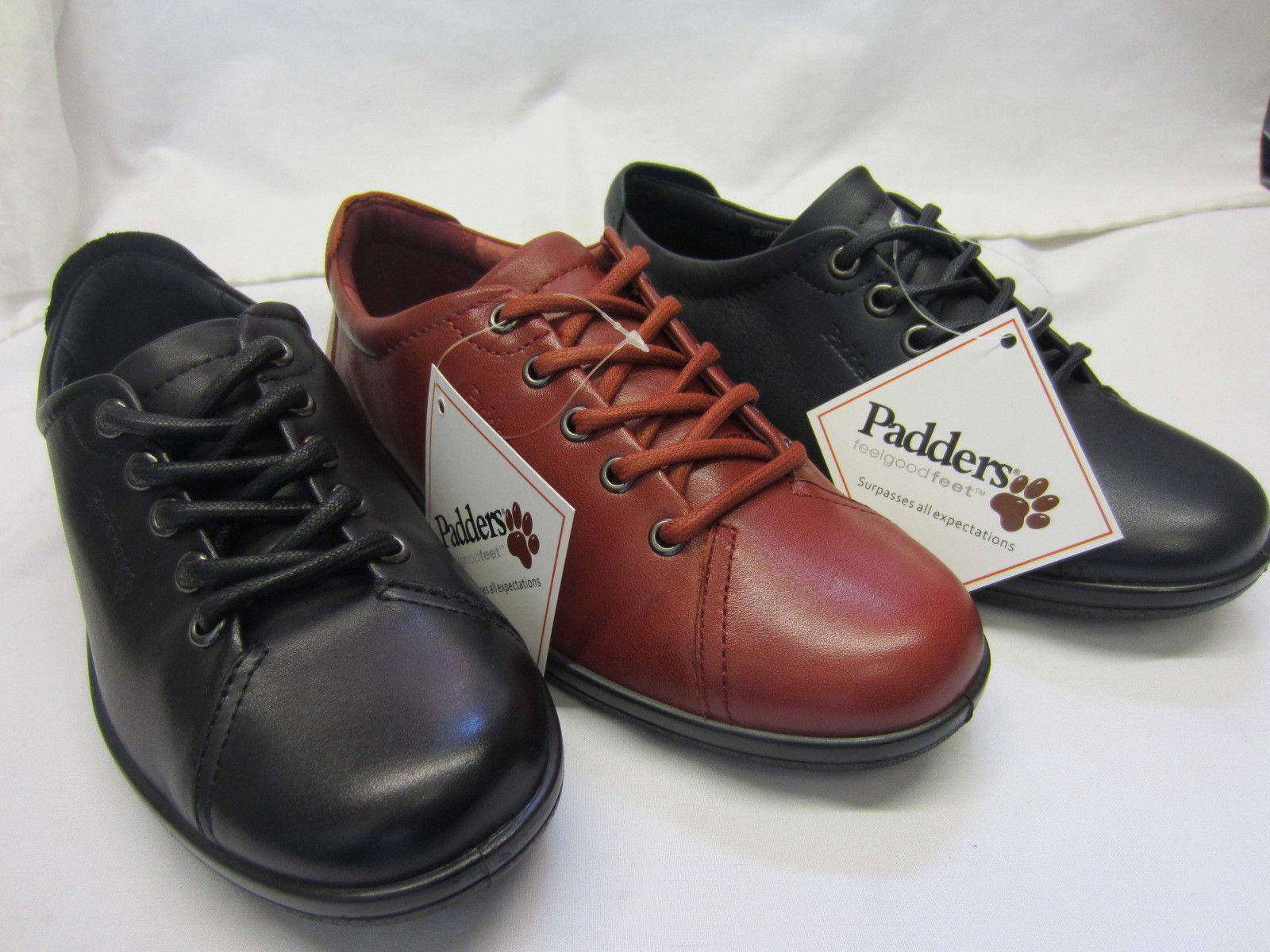 Padders negro Ajuste Ancho Ancho Ancho Para Mujer   Vino Zapatos Con Cordones 235 10 Galaxy  Precio por piso