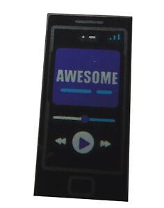 Lego-Mobiltelefon-schwarz-Awesome-Aufdruck-Handy-Telefon-Fliese-1x2-3069bpb698
