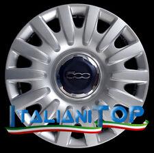 """FIAT 500-500L SET DI 4 COPRICERCHI BORCHIE DA 16/"""" TIPO ORIGINALE 759-16"""