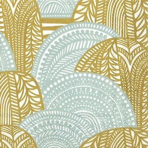 Marimekko-VUORILAAKSO-gold-silver-paper-Napkins-Dinner-size-40cm-3-ply-20-pack