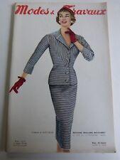 magazine Modes et Travaux n° 653  Mai 1955 + patron