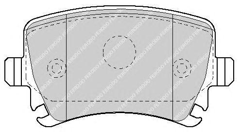 KIT PASTIGLIE FRENI POSTERIORI VW PASSAT /'05-/'10 2.0 TDI 16V 103 KW