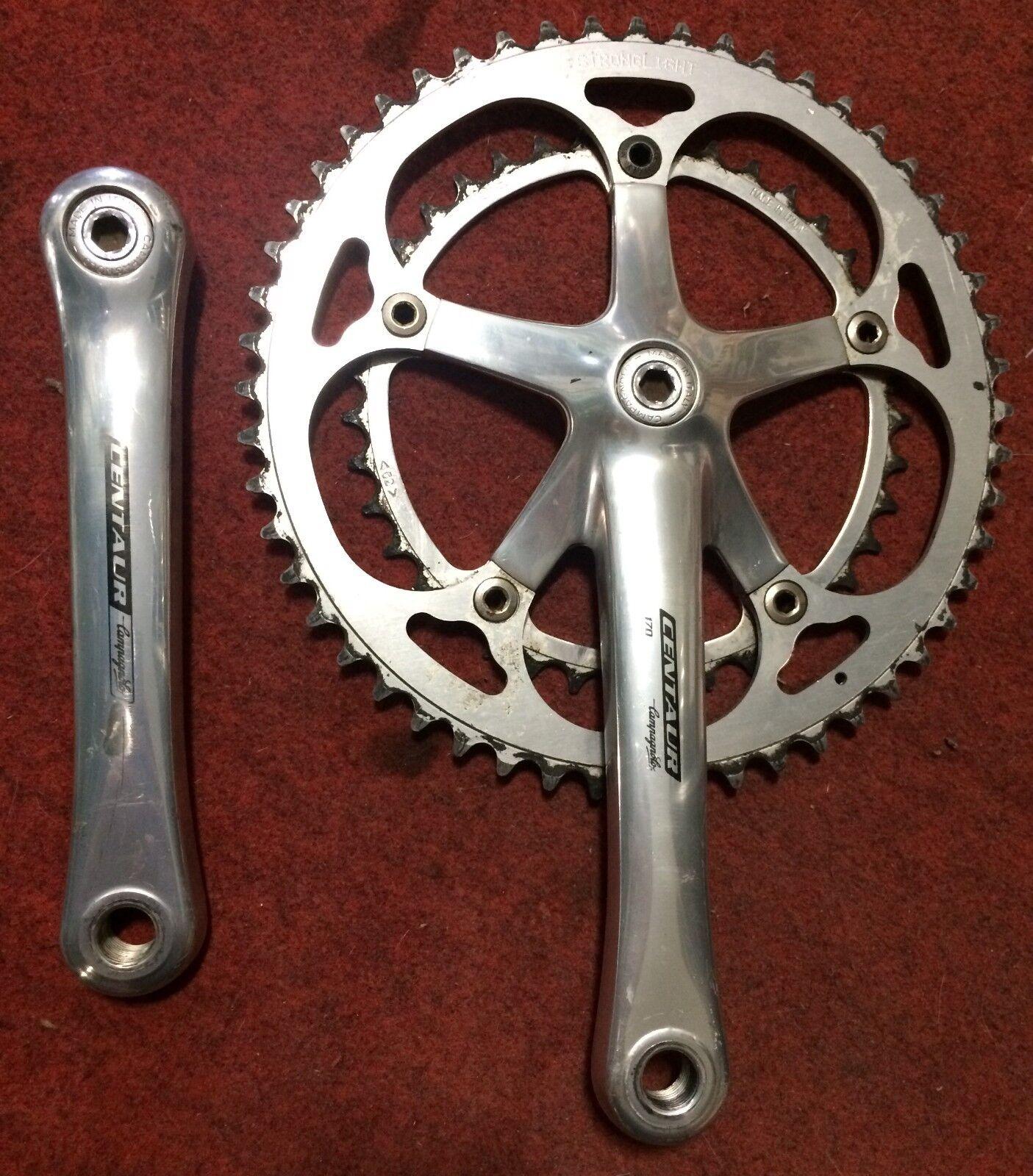Guarnitura Bici Campagnolo Centaur 9 speed 170 52 39 Miche bike crankset