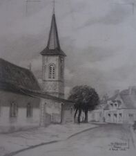 VUE DU VILLAGE DE ARDON-LOIRET-REGION CENTRE-FUSAIN-SIGNE-FARGEOT-1956