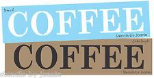 Designs Joanie Country STENCIL COFFEE Canvas Art Shop Craft U Paint Prim Signs